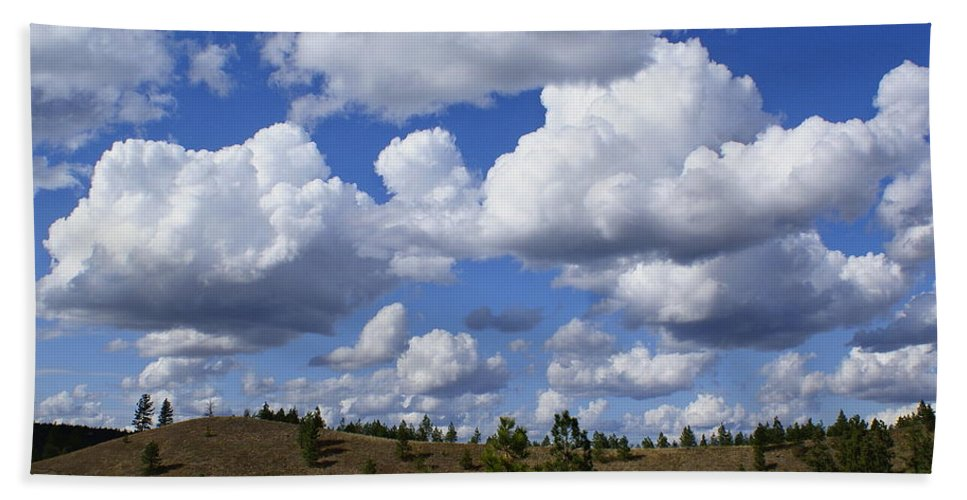 Nature Beach Towel featuring the photograph Spokane Cloudscape by Ben Upham III