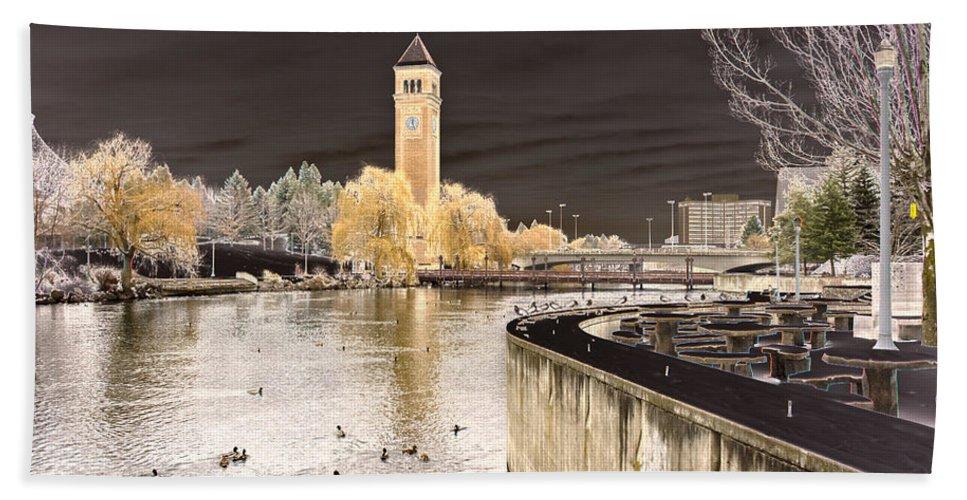 Landscape Beach Towel featuring the photograph Spokane Fantasy 2 by Lee Santa