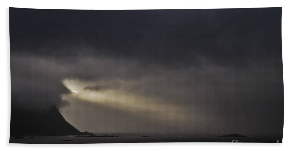 Sky Beach Towel featuring the photograph Spotlight In The Sky by Heiko Koehrer-Wagner