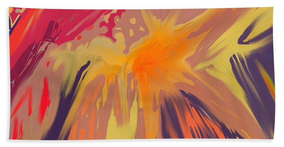 Abstract Beach Towel featuring the digital art Spread by Ian MacDonald