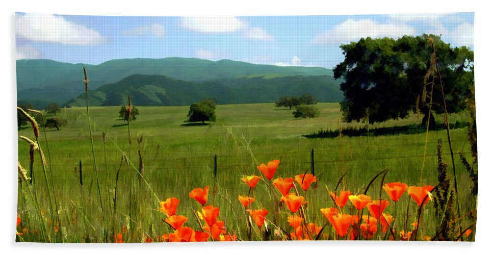 Poppies Beach Towel featuring the photograph Spring At Gainey Ranch by Kurt Van Wagner