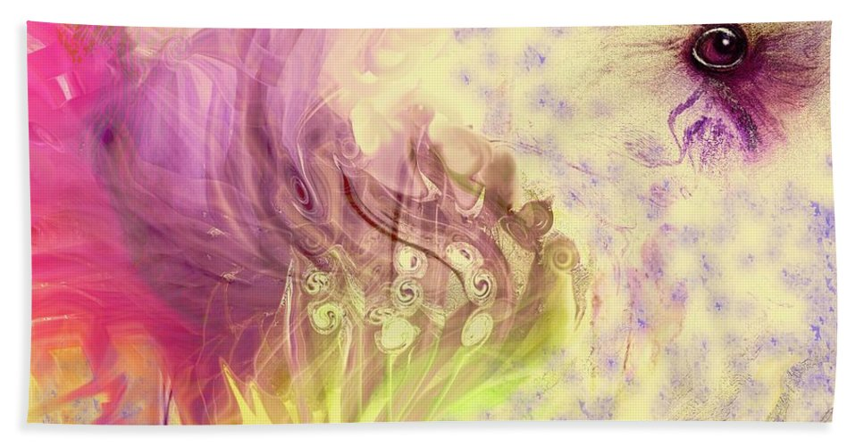 Spring Art Beach Towel featuring the digital art Spring Awaits by Linda Sannuti