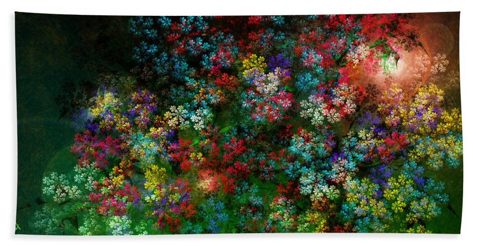Flowers Beach Towel featuring the painting Spring Bouquet by Adam Vance