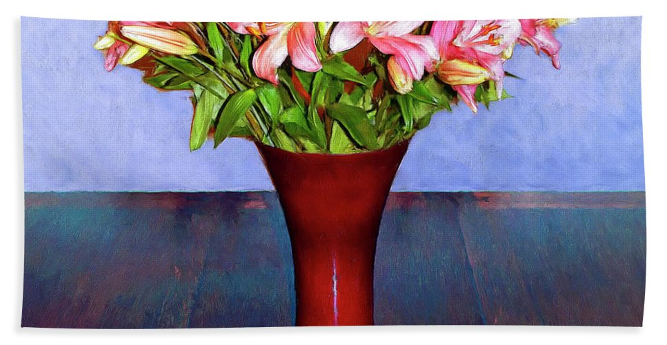 Flowers Beach Towel featuring the mixed media Spring Bouquet by Dominic Piperata