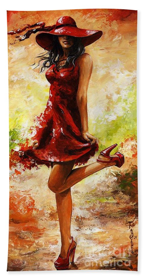 Spring Beach Towel featuring the painting Spring Breeze by Emerico Imre Toth