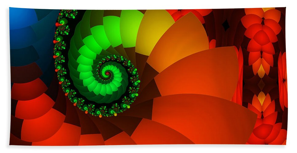 Fractal Beach Towel featuring the digital art Spring Fever by Jutta Maria Pusl