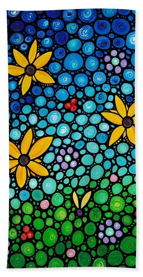 Floral Beach Towel featuring the painting Spring Maidens by Sharon Cummings