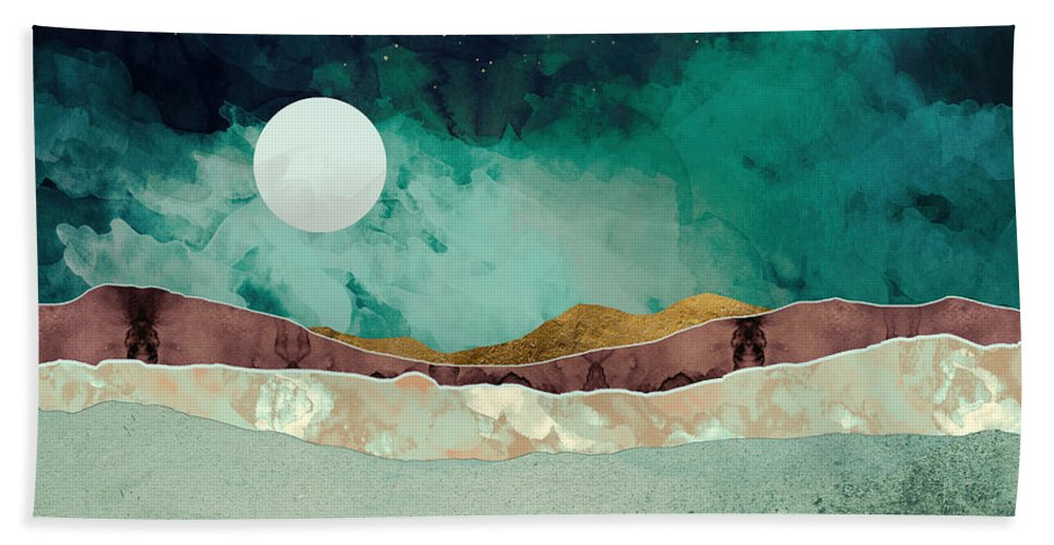 Spring Beach Towel featuring the digital art Spring Night by Katherine Smit