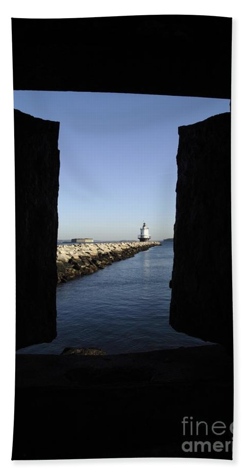 Maine Beach Towel featuring the photograph Spring Point Ledge Light - Portland Mane Usa by Erin Paul Donovan