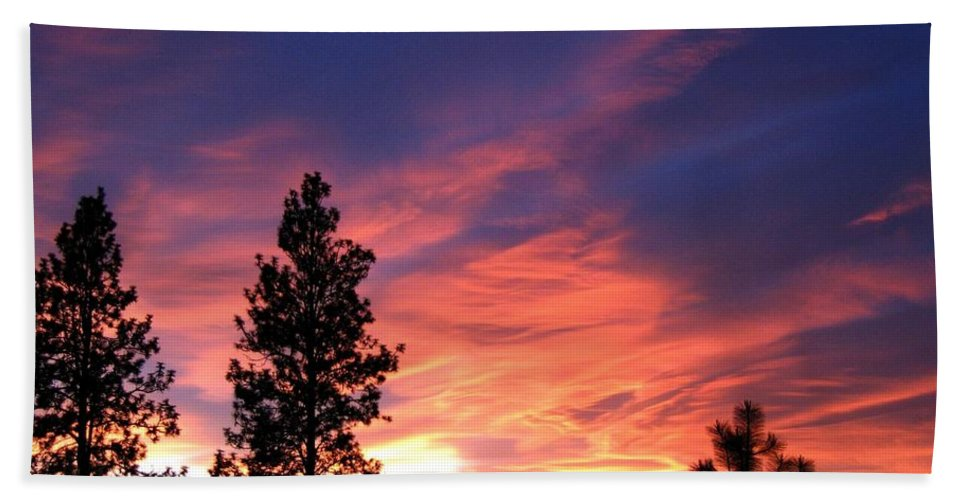 Sunset Beach Towel featuring the photograph Spring Spectacle by Will Borden