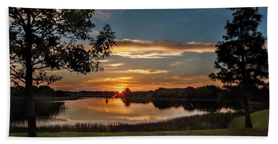 Sunrise Beach Towel featuring the photograph Spring Sunrise At Valhalla by Norman Johnson