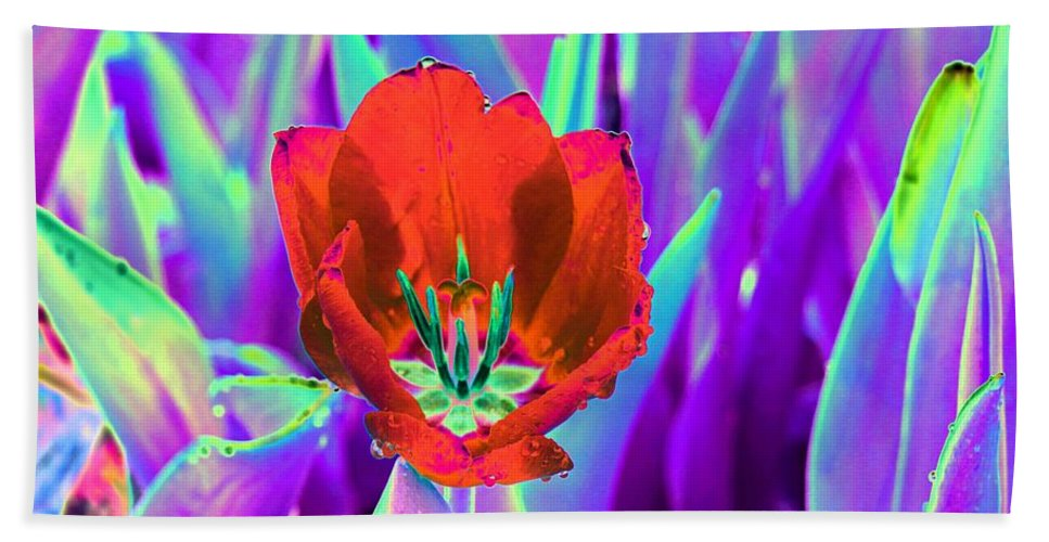 Tulip Beach Towel featuring the photograph Spring Tulips - Photopower 3146 by Pamela Critchlow