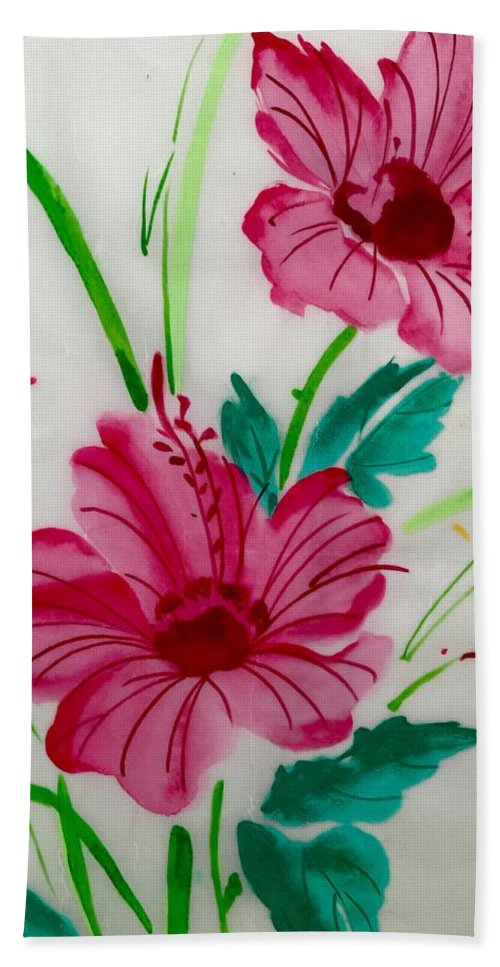 Beach Towel featuring the painting Springtime by Bruce Cohose