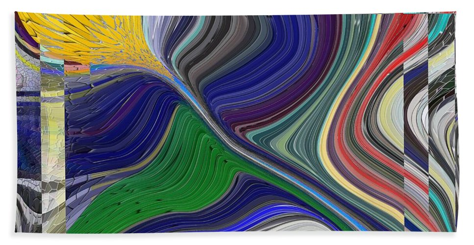 Abstract Beach Towel featuring the digital art Springtime Delight by Tim Allen