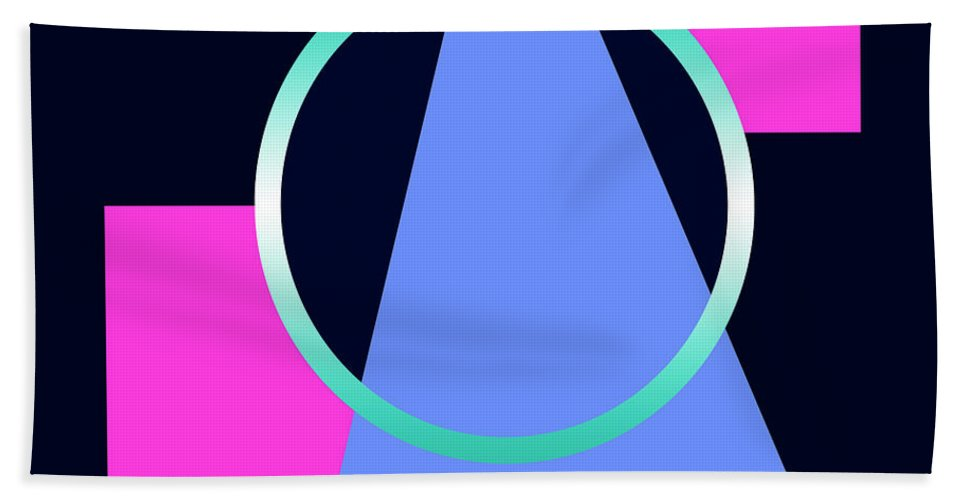 Beach Towel featuring the digital art Squares Subsumed By Cirle by Robert J Sadler
