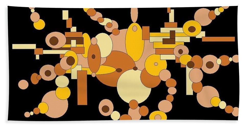 Digital Artwork Beach Towel featuring the digital art Squiggly by Jordana Sands