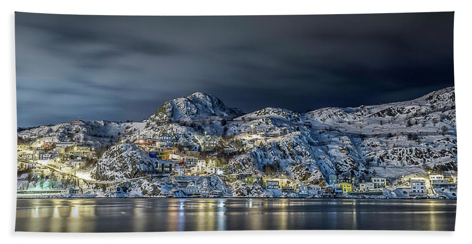 Newfoundland Beach Towel featuring the photograph St.john's Battery by Andy Harding