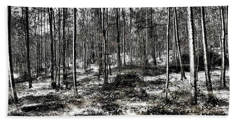 Stlawrenceswood Beach Towel featuring the photograph St Lawrence's Wood, Hartshill Hayes by John Edwards