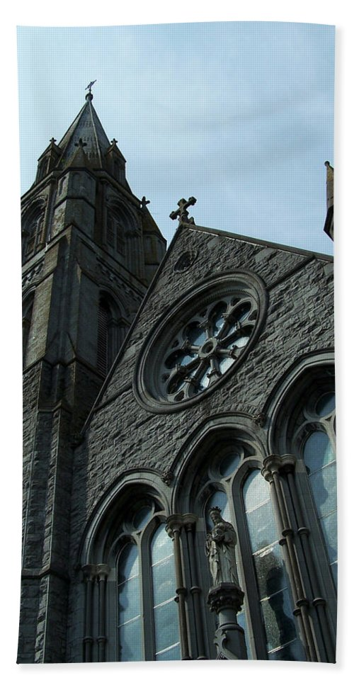 Ireland Beach Towel featuring the photograph St. Mary's Of The Rosary Catholic Church by Teresa Mucha