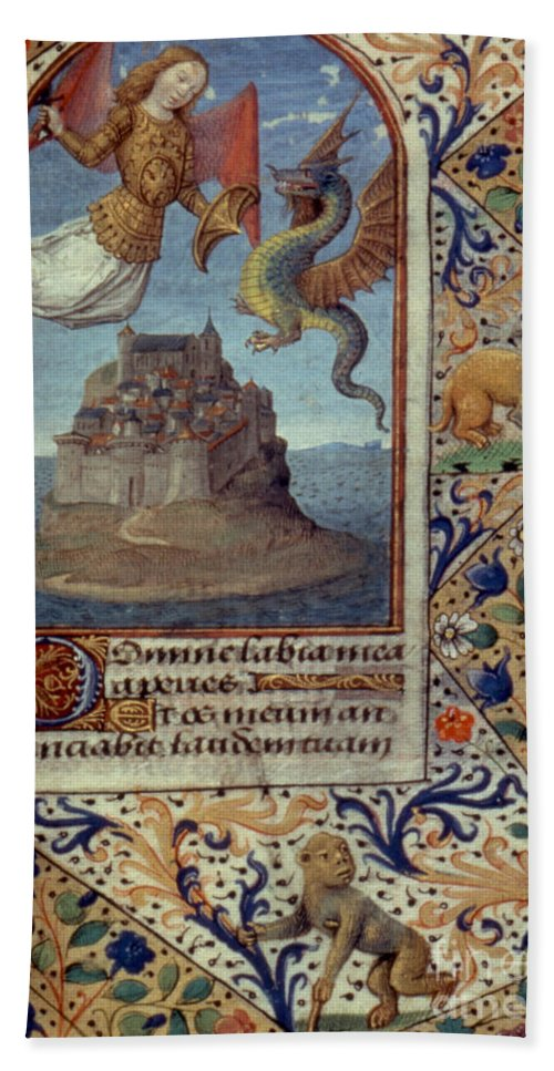 15th Century Beach Sheet featuring the painting St. Michael by Granger