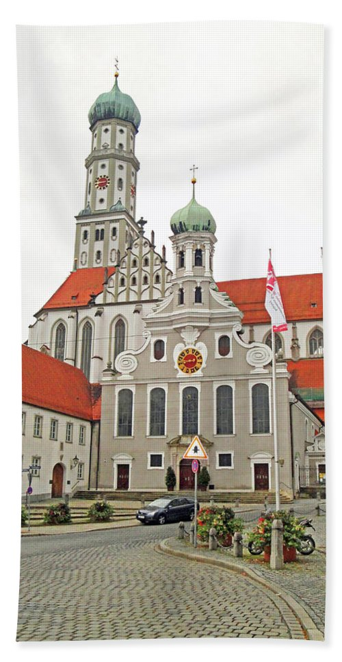 St. Ulrich's Beach Towel featuring the photograph St. Ulrich's And St. Afra's Abbey by Robert Meyers-Lussier