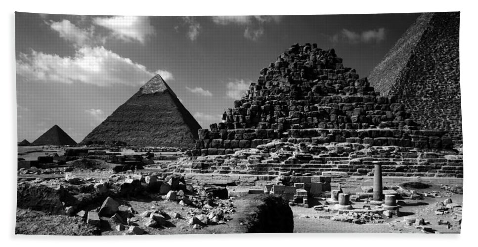 Pyramids Beach Towel featuring the photograph Stair Stepped Pyramids by Donna Corless