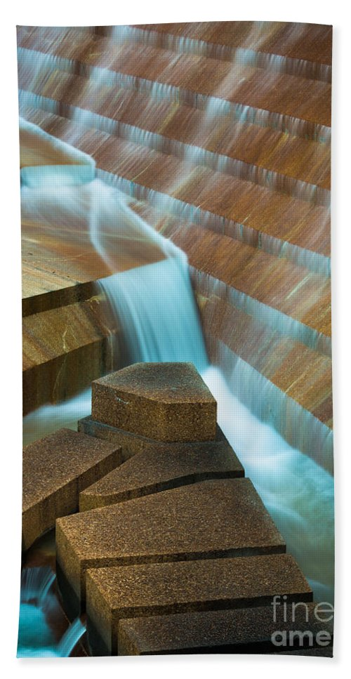 America Beach Towel featuring the photograph Staircase Fountain by Inge Johnsson