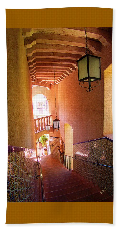 Architecture Beach Towel featuring the photograph Stairway by Ben and Raisa Gertsberg