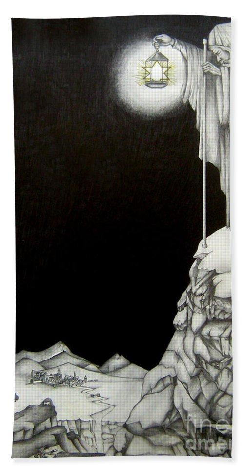 Heaven Beach Towel featuring the drawing Stairway to Heaven by Bella Apollonia