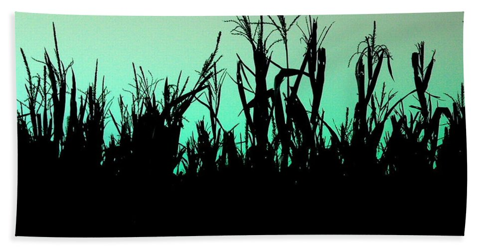 Corn Beach Towel featuring the photograph Stalker by M Pace