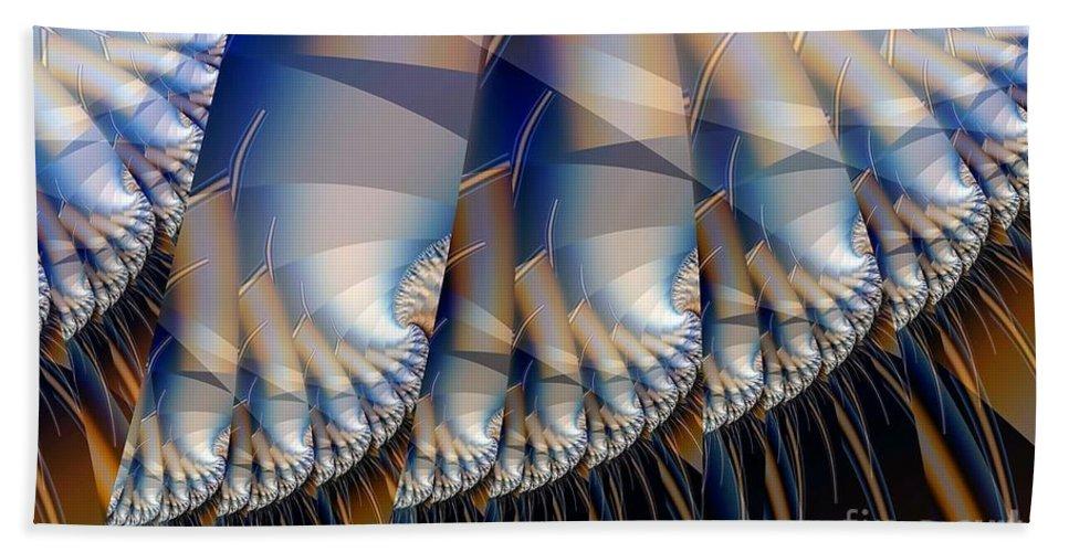 Hair Art Beach Towel featuring the digital art Stalks With Hair by Ron Bissett