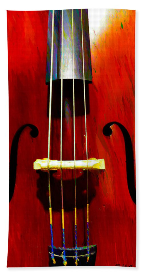 Stand Up Beach Towel featuring the photograph Stand Up Bass by Bill Cannon
