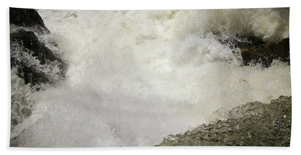 Waterfall Beach Towel featuring the photograph Standing On A Waterfall by Trance Blackman