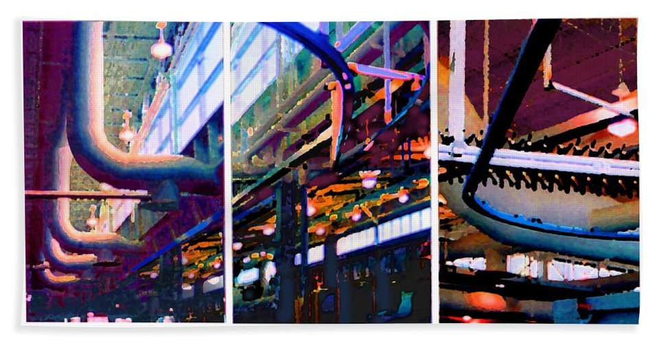 Abstract Beach Towel featuring the photograph Star Factory by Steve Karol