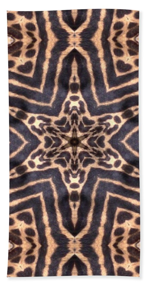 Digital Beach Towel featuring the Star Of Cheetah by Maria Watt