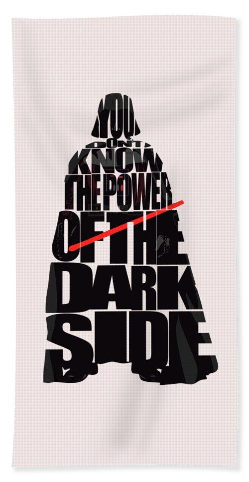 Darth Vader Beach Towel featuring the digital art Star Wars Inspired Darth Vader Artwork by Inspirowl Design