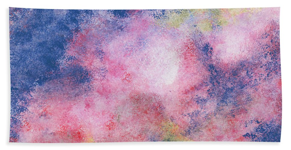 Acrylic Beach Towel featuring the painting Starbirth by Alexis Grone