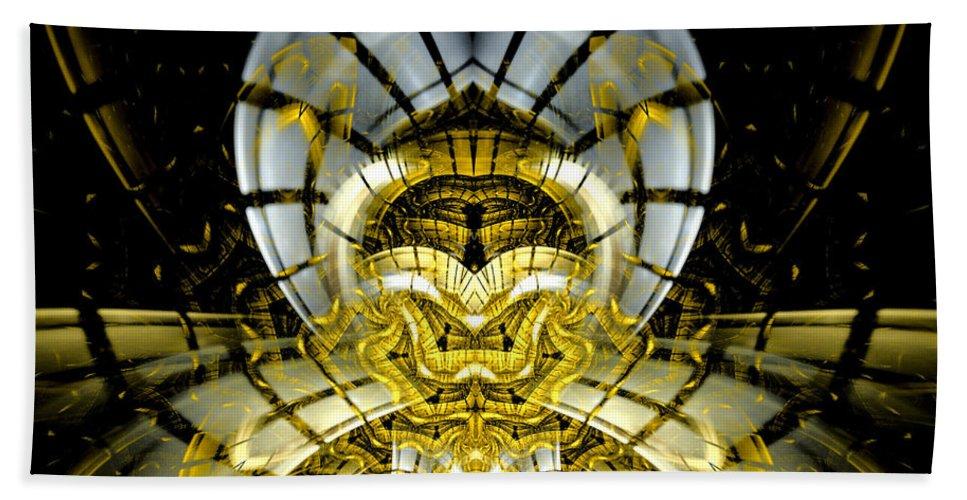 Fractal Beach Towel featuring the digital art Stargate Electra by Amorina Ashton