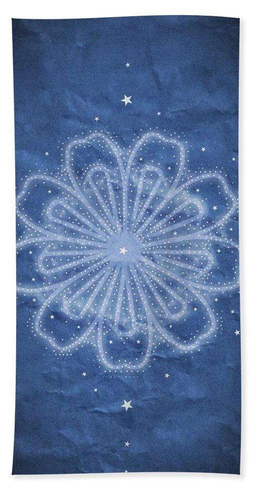 Starry Kaleidoscope Beach Towel featuring the digital art Starry Kaleidoscope by Sandy Taylor