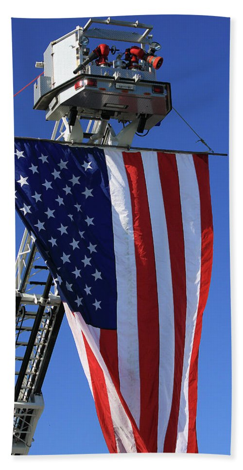 Americana Beach Towel featuring the photograph Stars And Stripes by Karol Livote