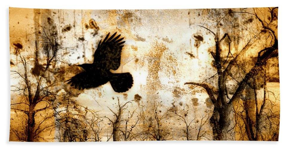 Surrealism Beach Towel featuring the photograph Start Of Chaos by Gothicrow Images