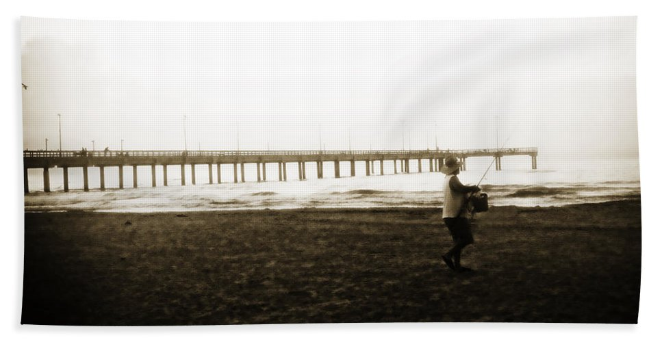 Fish Beach Towel featuring the photograph Starting Early by Marilyn Hunt