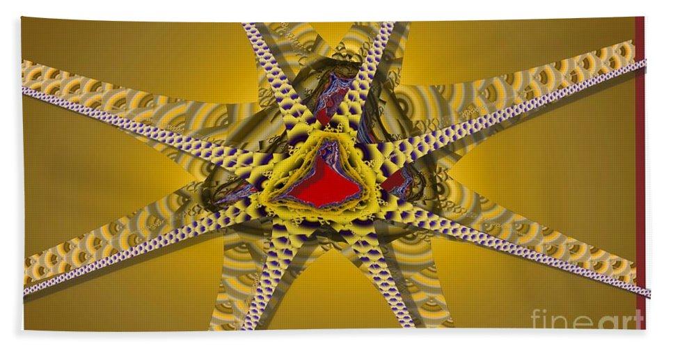 Stars Beach Towel featuring the digital art Starz by Ron Bissett