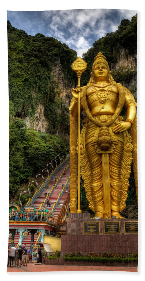 272 Beach Towel featuring the photograph Statue Of Murugan by Adrian Evans