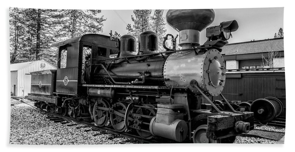 Freight Trains Beach Towel featuring the photograph Steam Locomotive 5 by Jim Thompson