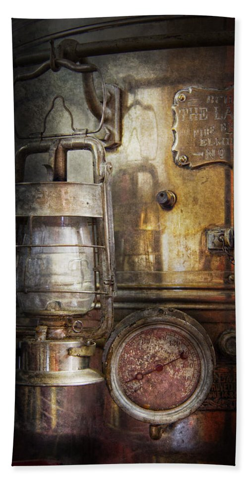 Hdr Beach Towel featuring the photograph Steampunk - Silent Into The Night by Mike Savad