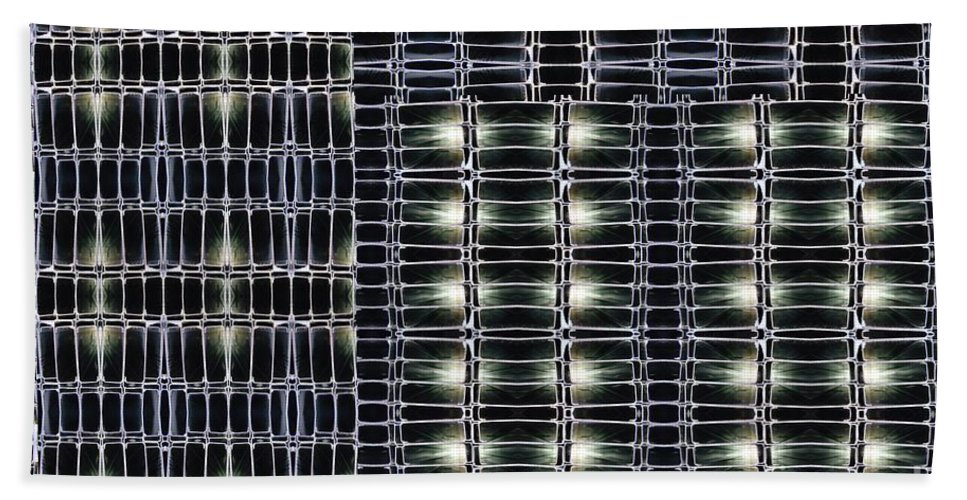 Steel Studs Beach Towel featuring the digital art Steel Studs 2 by Ron Bissett