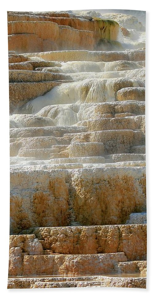 Travertine Terraces Beach Towel featuring the photograph Step Lightly by Mark Mickelsen