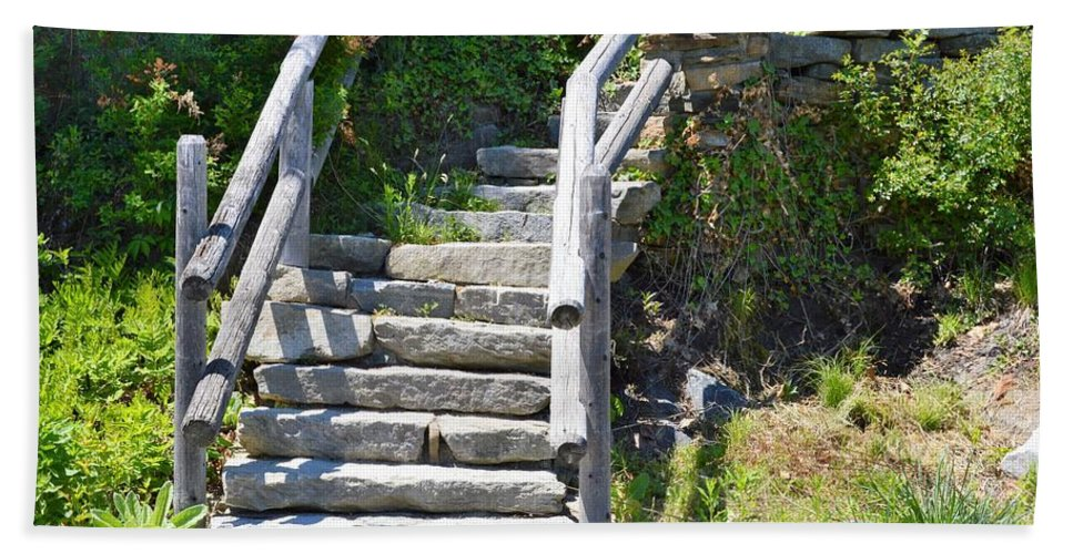 Stairs Beach Towel featuring the photograph Stepping Up by Charles HALL