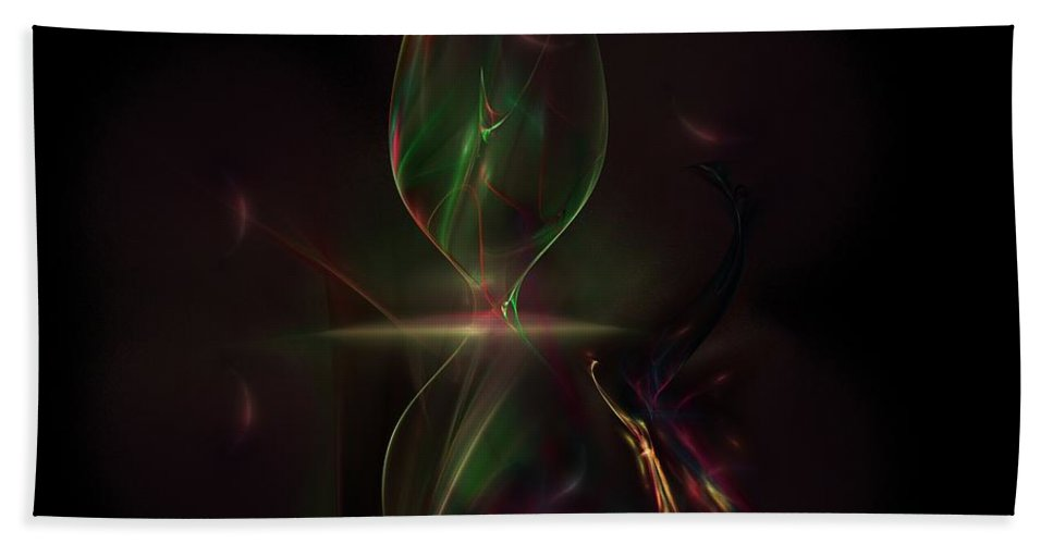 Abstract Digital Painting Beach Towel featuring the digital art Still Life 11-14-09 by David Lane